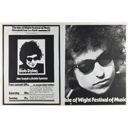Bob Dylan 1969 Isle of Wight Poster