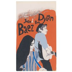 Bob Dylan and Joan Baez Handbill