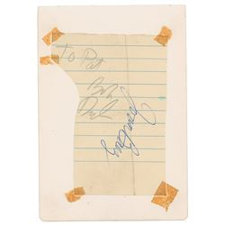 Bob Dylan and Joan Baez Signatures