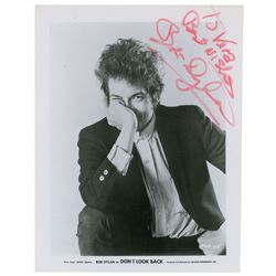 Bob Dylan Signed Photograph