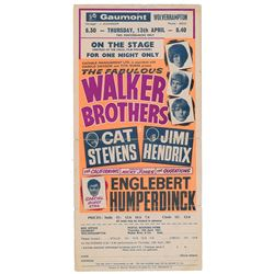 Jimi Hendrix 1967 Wolverhampton Handbill