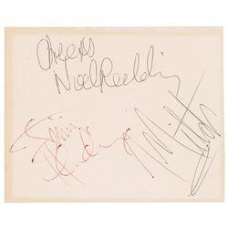 Jimi Hendrix Experience 1967 Signatures