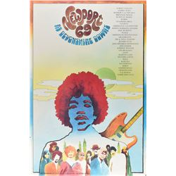 Jimi Hendrix Experience 1969 Newport Pop Festival Poster