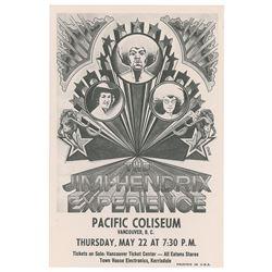 Jimi Hendrix Experience 1969 Vancouver Handbill