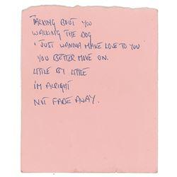Mick Jagger Handwritten 1965 Set List