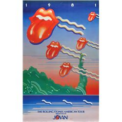 Rolling Stones 1981 American Tour Poster