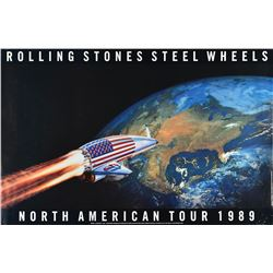 Rolling Stones 1989 Steel Wheels Tour Poster