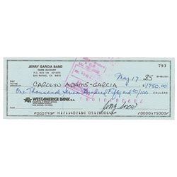 Jerry Garcia Signed Check