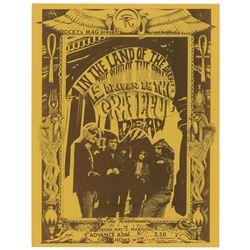 Grateful Dead 1967 Fresno Handbill