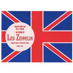 Led Zeppelin 1970 Fort Worth Handbill