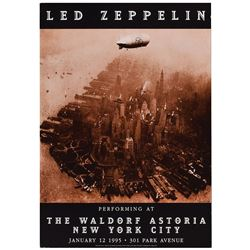 Led Zeppelin 1995 Waldorf Astoria Poster