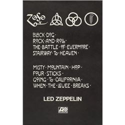 Led Zeppelin IV 1971 Atlantic Records Promotional Poster