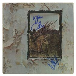 Robert Plant and John Paul Jones Signed Album