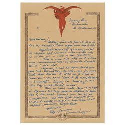 Robert Plant Autograph Letter Signed