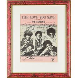Jackson 5 Signed Sheet Music