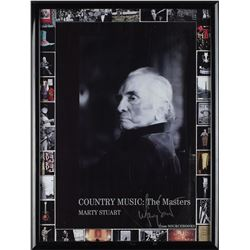 Johnny Cash 'The Masters' Poster Signed by Marty Stuart