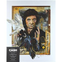 Johnny Cash Limited Edition Print Signed by Wayne Brezinka
