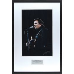 Johnny Cash Photo Signed by George Kalinsky