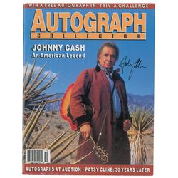 Johnny Cash Signed Autograph Collector Magazine