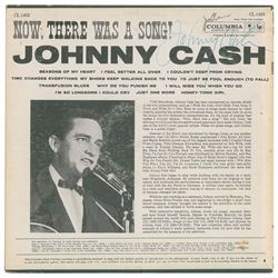 Johnny Cash Signed Now, There Was a Song! Album