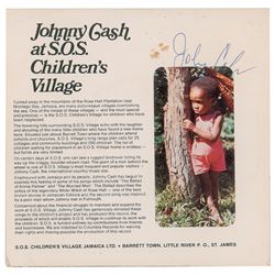 Johnny Cash Signed SOS Children's Record