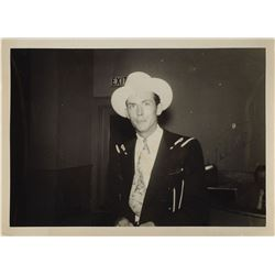 Hank Williams Signed Photograph