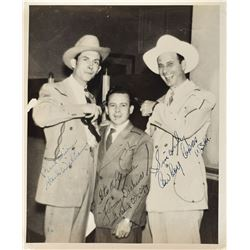 Hank Williams, Cowboy Copas, and Jimmy Dickens Signed Photograph