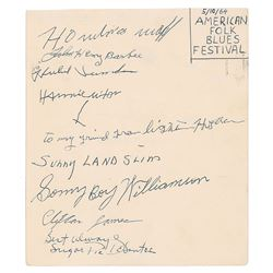 American Folk Blues Festival 1963–1964 Signatures (Signed by 15)