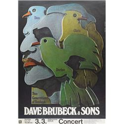 Dave Brubeck German Concert Posters