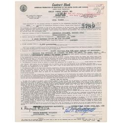 Paul Butterfield Signed Document