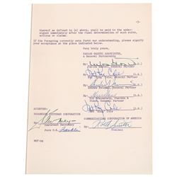 Nat King Cole Document Signed