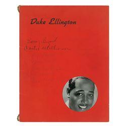 Duke Ellington's Orchestra Signed Program (Signed by 10)