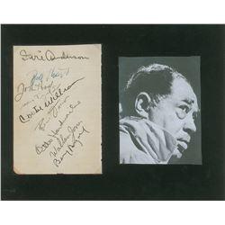Duke Ellington's Sidemen Signatures