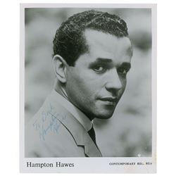 Hampton Hawes Signed Photograph