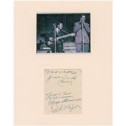 Big Walter Horton and Eddie Taylor Signatures