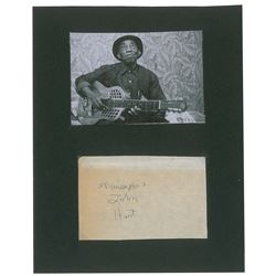 Mississippi John Hurt Signature