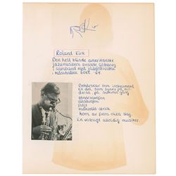 Rahsaan Roland Kirk Signature