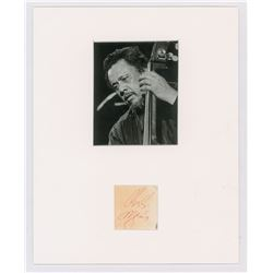 Charles Mingus Signature