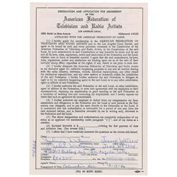 Johnny 'Guitar' Watson Signed Document