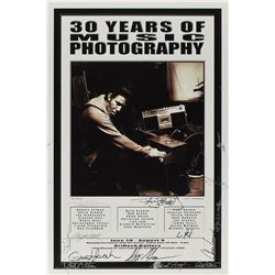 30 Years of Music Photography Signed Poster