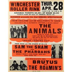 The Animals 1966 Winchester Poster