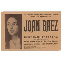Joan Baez Berkeley Campus Handbill