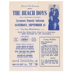The Beach Boys 1963 Sacramento Handbill