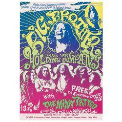 Big Brother and the Holding Company 1968 Fresno Handbill