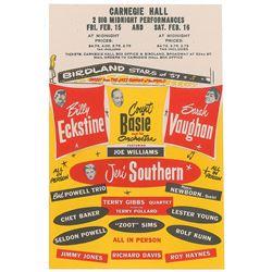 Birdland Stars of 1957 Handbill