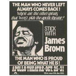 James Brown 1974 Apollo Theatre Handbill