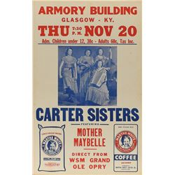 The Carter Sisters 1952 Armory Building Poster