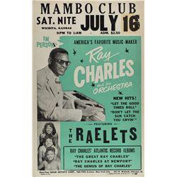 Ray Charles 1960 Wichita Poster