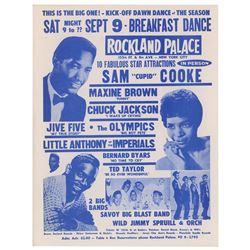 Sam Cooke 1961 Rockland Palace Handbill