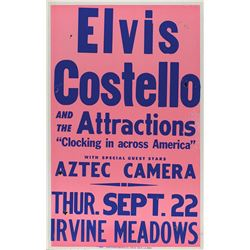 Elvis Costello and the Attractions 1983 Irvine Meadows Poster